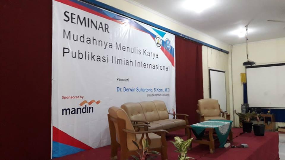 Seminar Pekan Ilmiah 2018 STMIK Widya Pratama Pekalongan