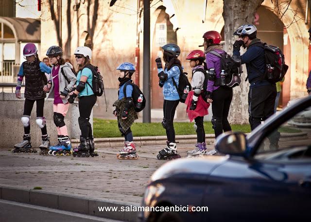 patinar patinadores salamanca en patines carril bici salamanca