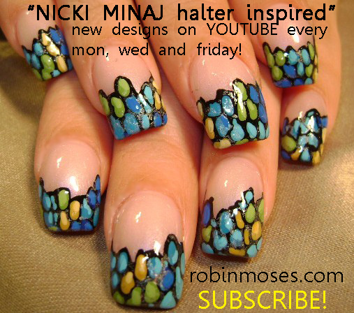 Nail Art By Robin Moses Gaga Nails Pokerface Nails Poker Nails