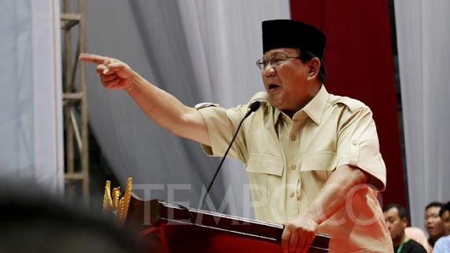 Prabowo Pukul-pukul Podium Saat Kampanye, TKN: Urakan Ala Trump