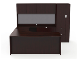 Cherryman Jade Office Desk Configuration