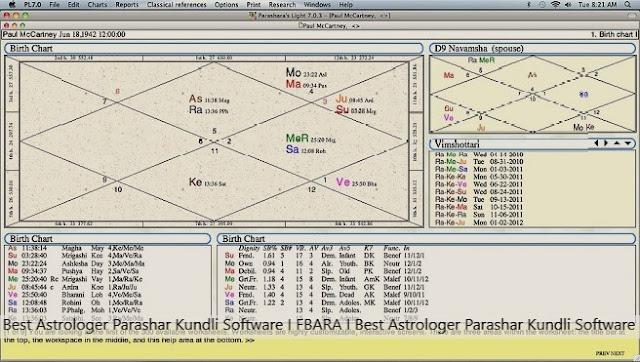 Best Astrologer Parashar Kundli Software