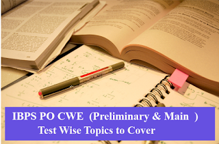 IBPS PO CWE Syllabus -Test Wise Topics