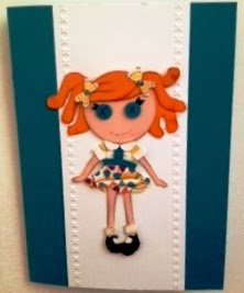 My little gal paper piecing by Zena Kennedy Stampin Up independent demonstrator