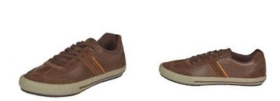 Zapatillas de piel en color marron de Geox