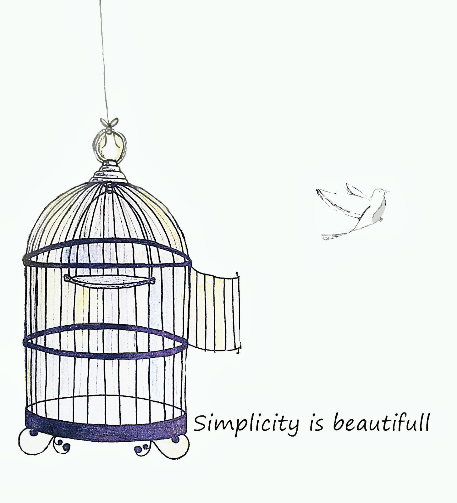 The gallery for --> Bird Cage Drawing Flying