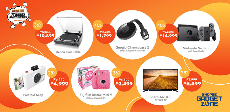 Some of the items included at Shopee's Gadget Zone