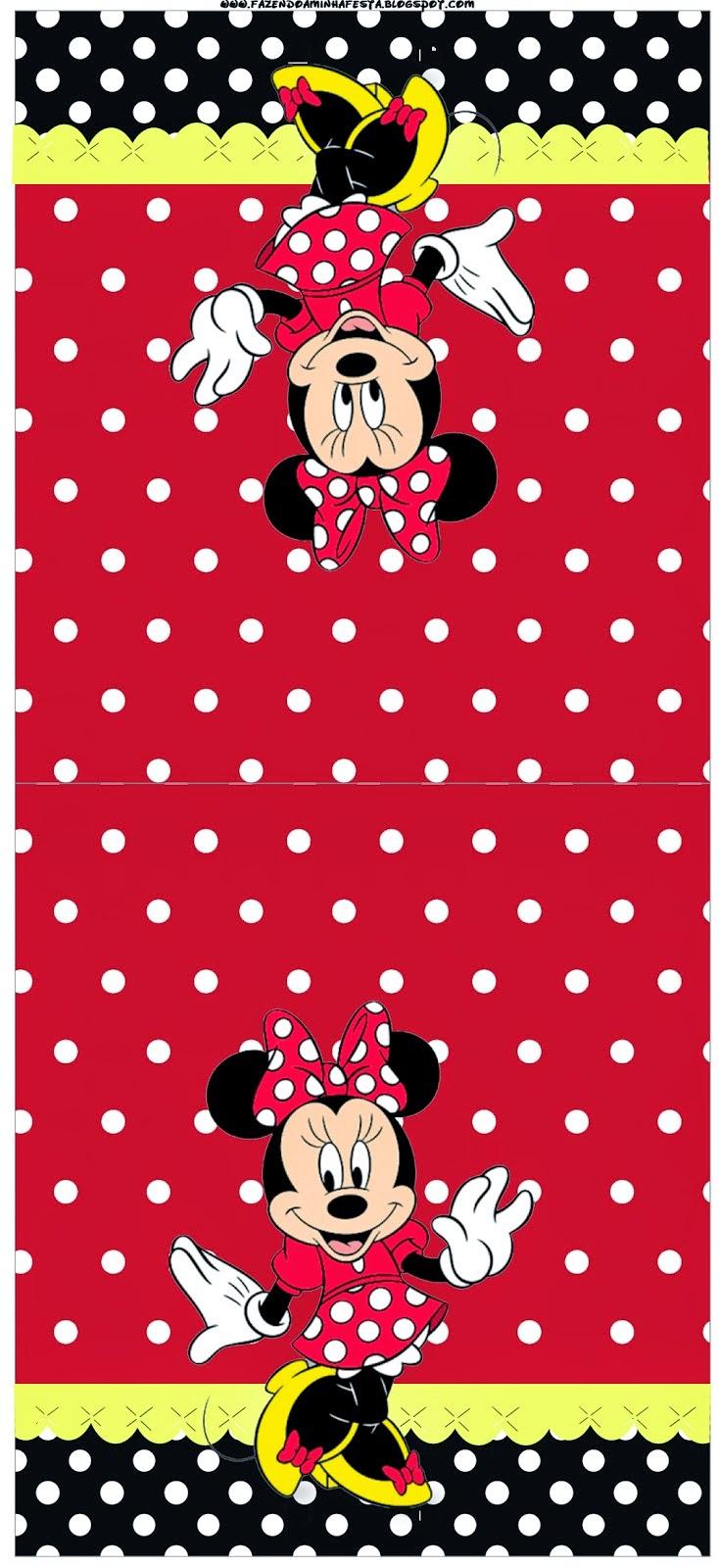 Minnie Rojo: Etiquetas para Candy Bar para Imprimir Gratis.   Ideas ...