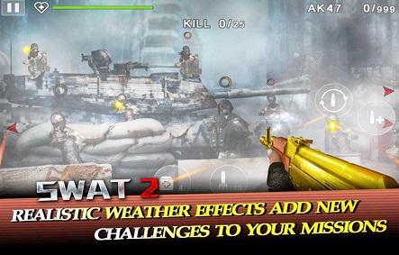 تحميل لعبة الأكشن SWAT 2 مهكرة للاندرويد