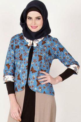 baju batik muslim pesta
