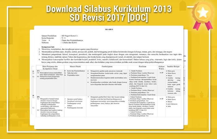 Silabus Kurikulum 2013 Sd Kelas 5 Revisi 2017 Pdf