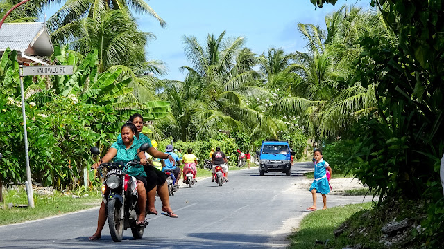 Not much space for all the motorbikes in Funafuti