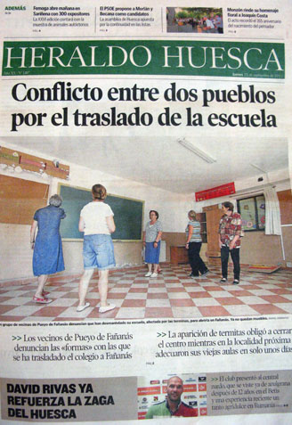 Fañanás: Conflicto entre dos pueblos por el traslado de la escuela