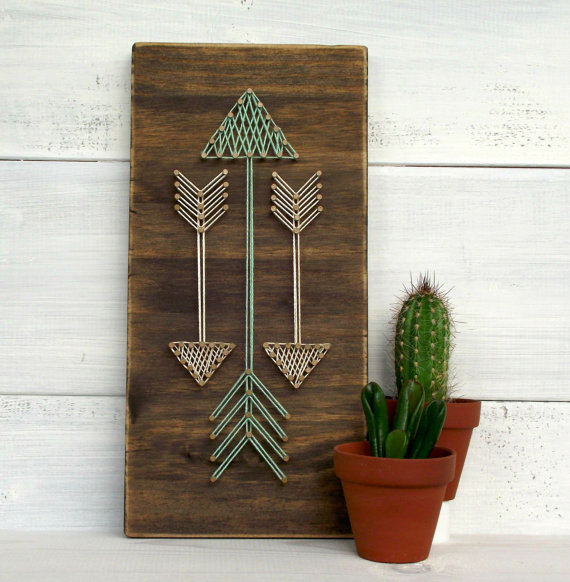 DIY arrow art gift idea