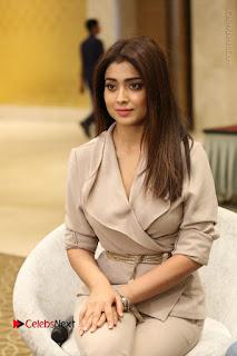 Actress Shriya Saran Stills in Stylish Dress at Gautamiputra Satakarni Team Press Meet  0064.JPG