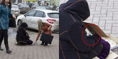 Tertangkap Kamera, Pengemis Mengiba Sambil Main iPhone di Tangannya