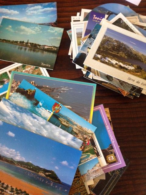 coleção de postais