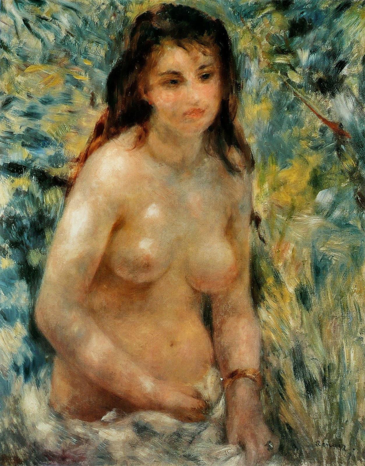 ピエール=オーギュスト・ルノワールの陽光を浴びる裸婦