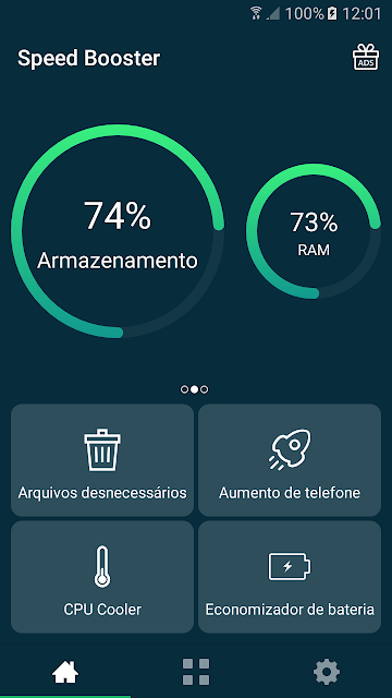 imagem do aplicativo acelerador de celular, imagem ilustrativa
