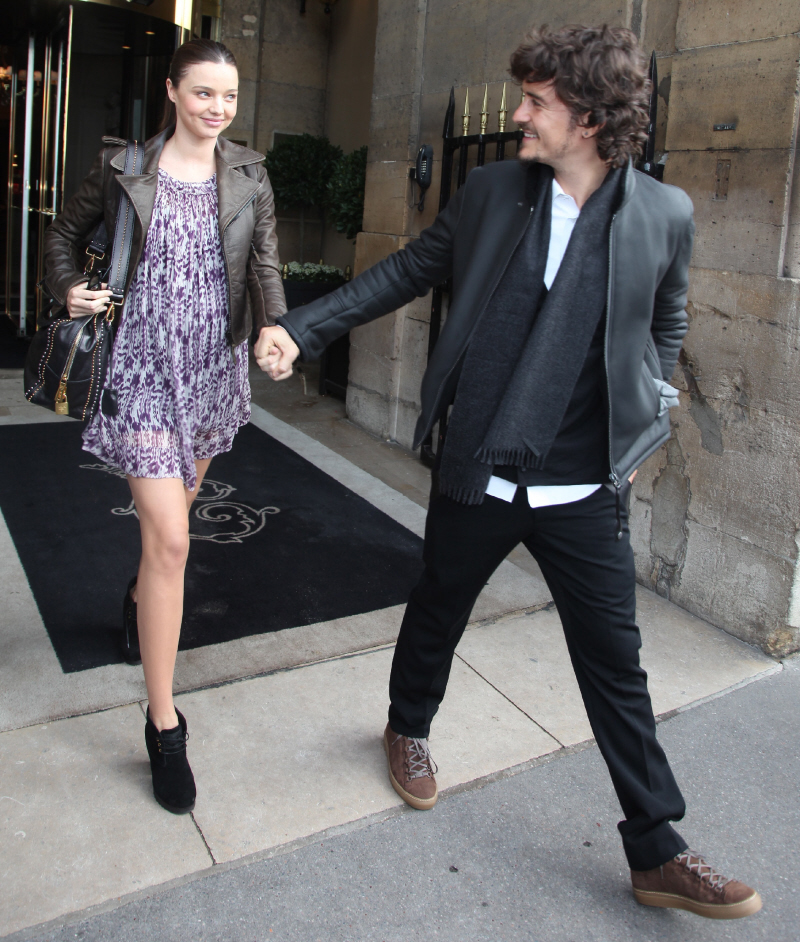 Hollywood All Stars: Miranda Kerr with Husband Pics