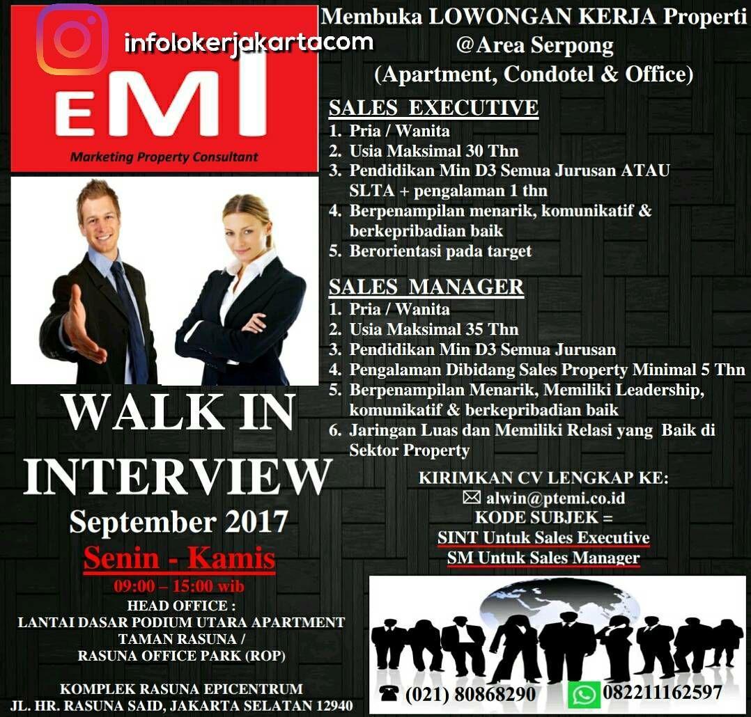 Lowongan Kerja PT. EMI Jakarta Septembr 2017