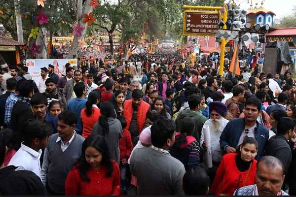 teddy-day-and-sunday-surajkund-mela-one-lakh-visitors-10-feb-2019