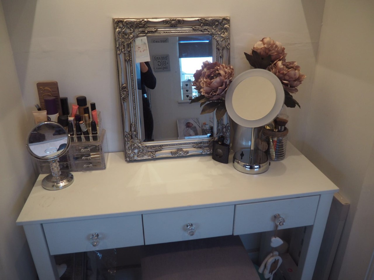 Floral Danielle My Latest Dressing Table Addition A Light Up Mirror