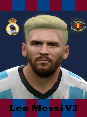 PES 2016 Lionel Messi Face With Blonde