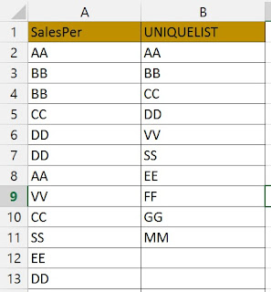 Create Dynamic Unique List Using Array Formula
