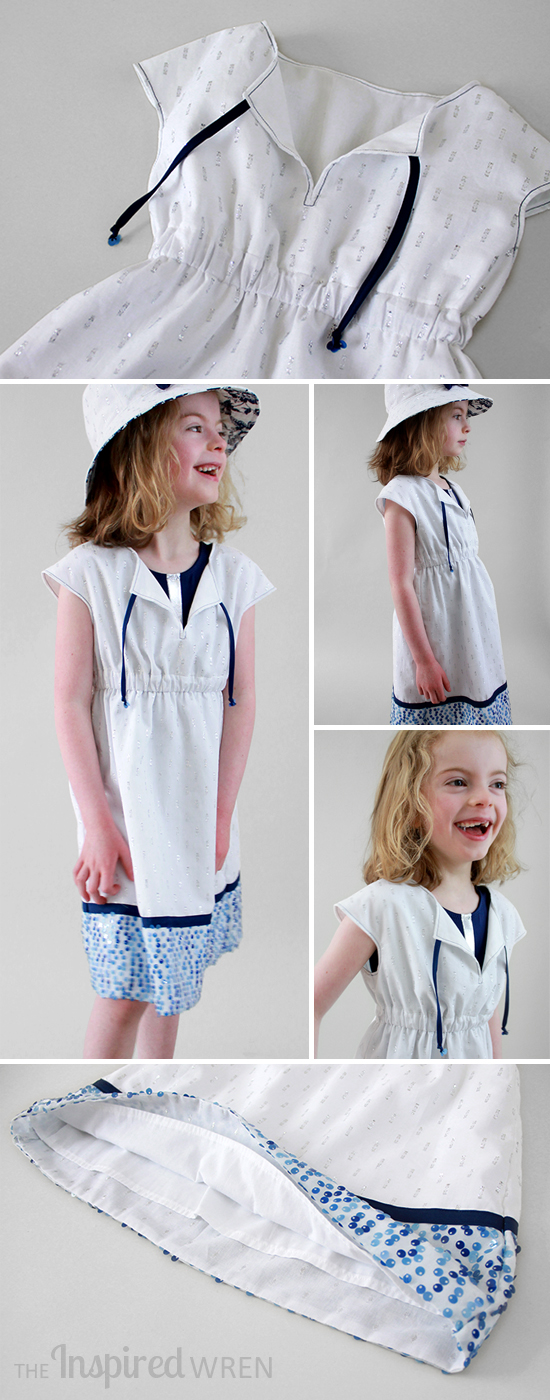 Love this Oliver + S Roller Skate Dress as Swim Cover | The Inspired Wren