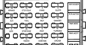 schematics and diagrams: 1986 Chevrolet Corvette Fuse Box Diagram
