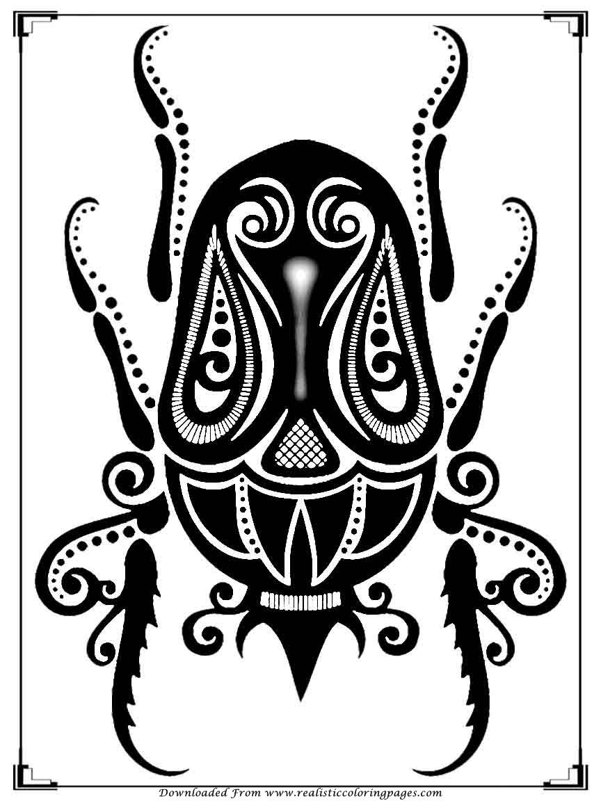 Printable Bugs Coloring Pages For Adults | Realistic Coloring Pages