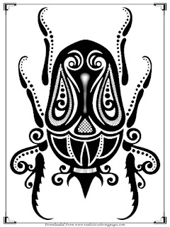 insects printable coloring pages for adult