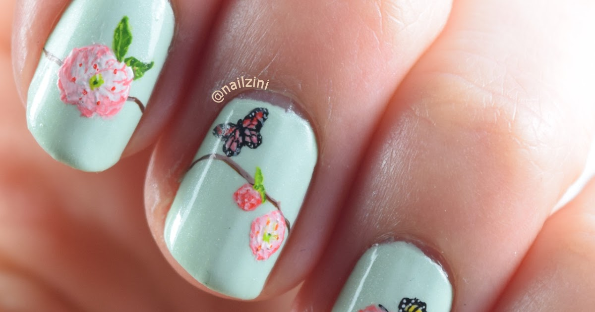 Spring Flower Nail Art | Nailzini: A Nail Art Blog