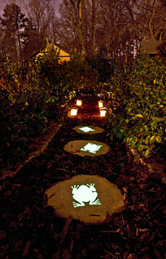 Make Your Garden Glow With Solar Lights And In The Dark Paint