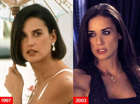 Chatter Busy Demi Moore Before And After
