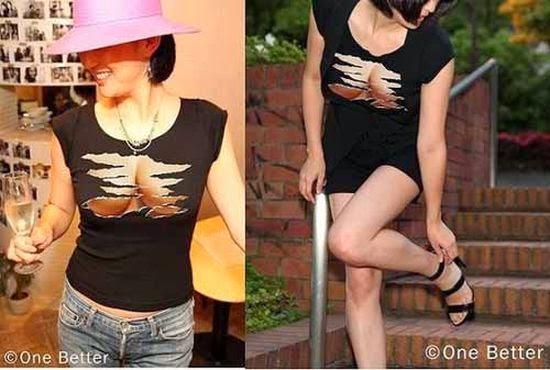 áo hở ngực cho phái nữ