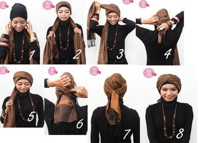 Gambar Cara Memakai Jilbab Modern Lebaran Idul Fitri