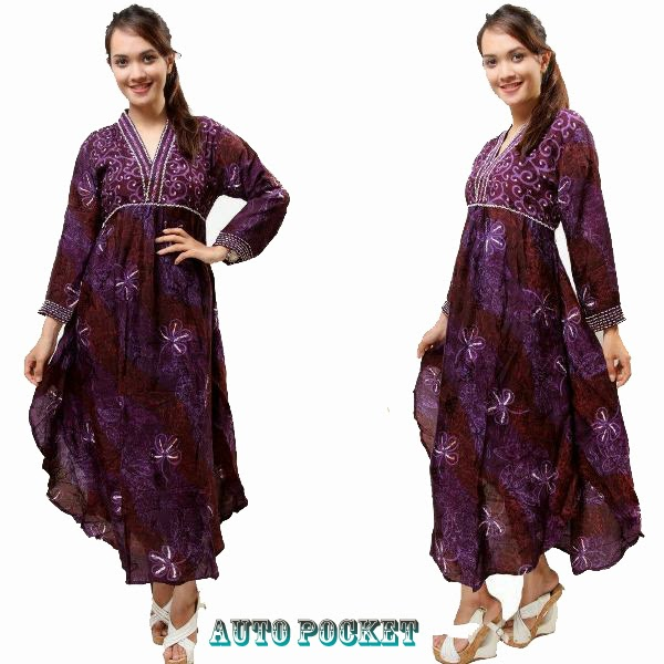 model-baju-batik-long-dress-4