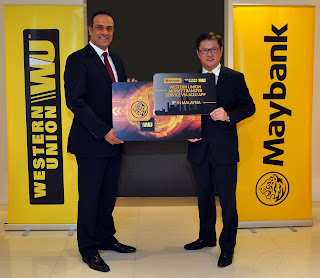 Source: Western Union Financial Services. Bassem Awada, Western Union VP for Key Initiatives, Middle East, Africa, Asia Pacific, Eastern Europe and CIS (left) and Datuk Lim Hong Tat, Maybank Group Head, Community Financial Services (right) at the launch of Western Union Money Transfer Service via the Maybank M2U Mobile App.