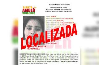 Desactivan Alerta Amber para Zuri Sadai Villanueva Hernández en Oluta Veracruz