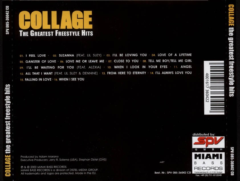 Freestyle Music: Collage - The Greatest Freestyle Hits (CD, Comp