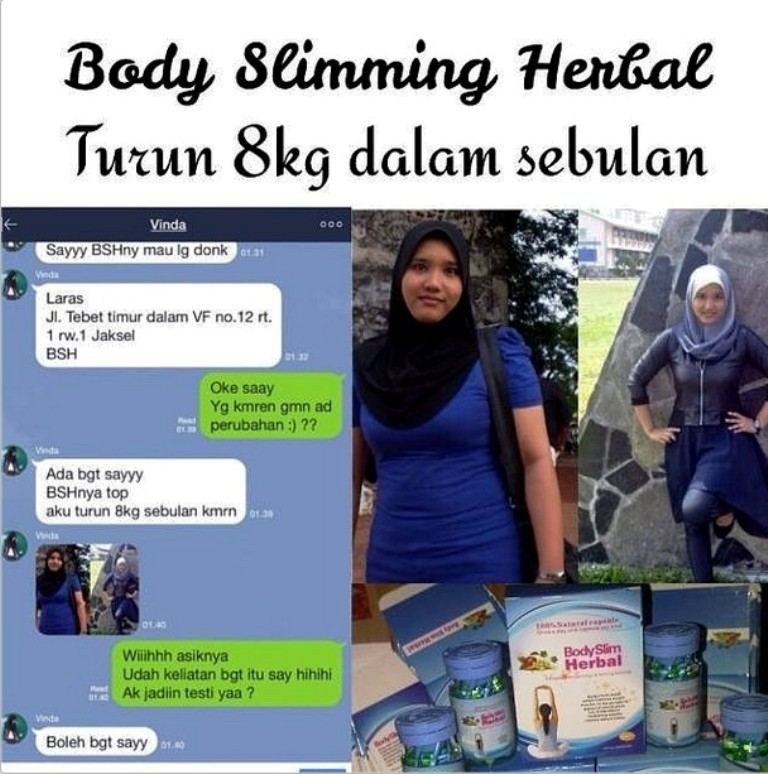 Cara Pemesanan Body Slim Herbal BSH Capsule BPOM :