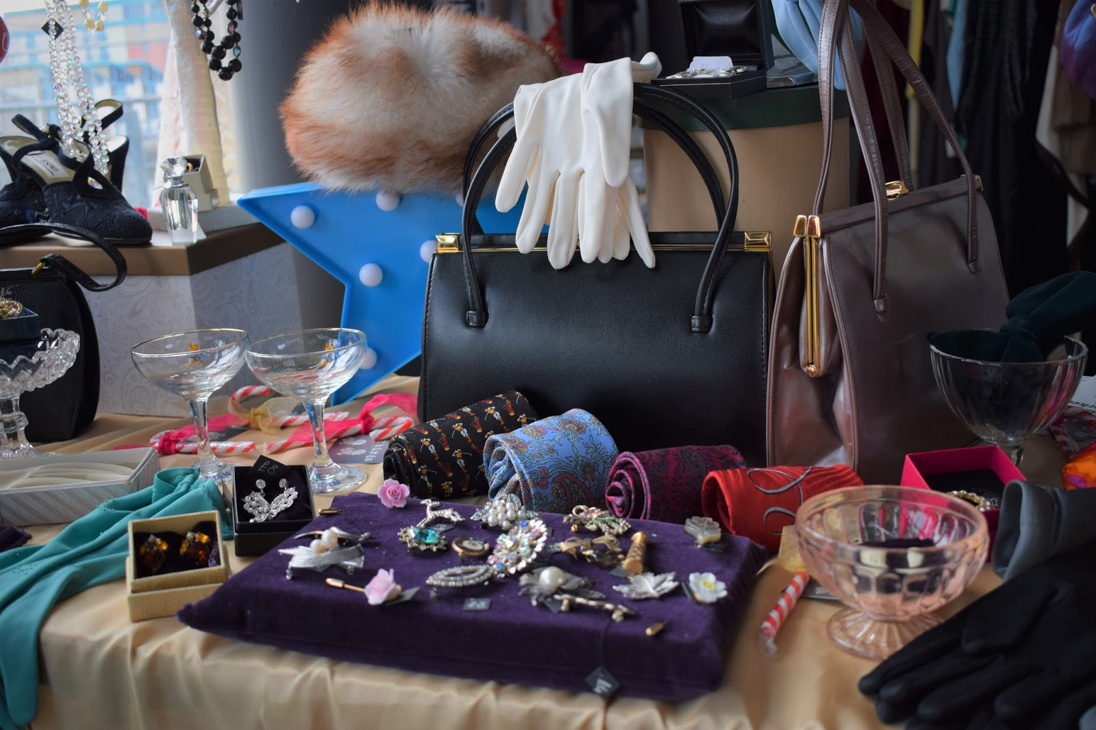 Specifically Vintage market event, The Quay Dundee, charity event Dundee, Vintage afternoon tea and fashion show, vintage accessories stall at vintage market