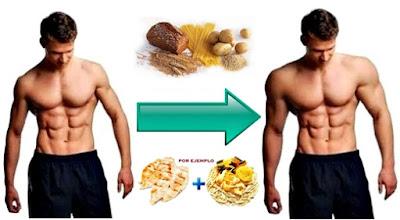 Dieta para hombres ectomorfos para aumentar la masa muscular