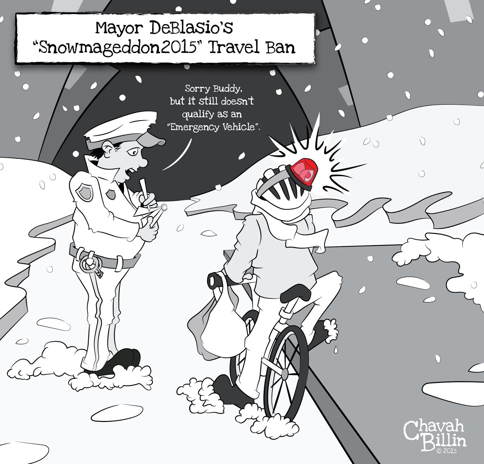 Mayor DeBlasio's Snowmageddon 2015 Travel Ban