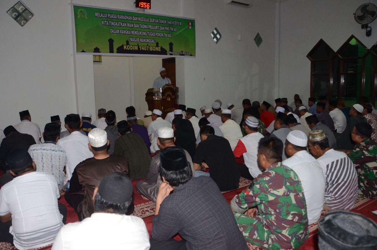Kodim 1407/Bone Peringati Malam Nuzulul Qur'an