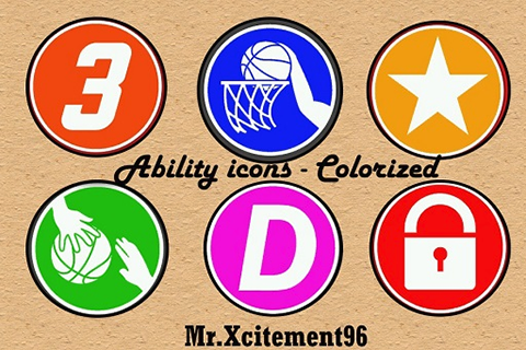 NBA 2K14 Colored Ability Icons Mod