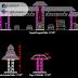 مخطط بوابة مدخل مدينة اوتوكاد dwg