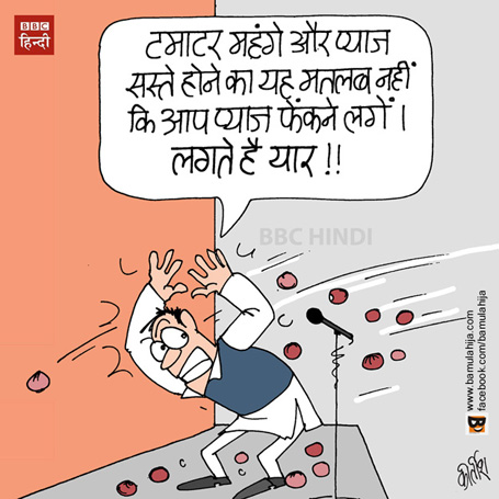 onion price, tomato price, dearness cartoon, mahangai cartoon, cartoons on politics, indian political cartoon